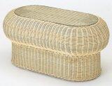 籐 テーブル(楕円タイプ)
