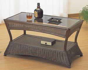 画像1: 籐 テーブル