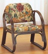 籐 思いやり座椅子 ミドルタイプ