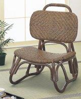 籐 アジロ編み楽々座椅子